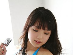 Ai Shinozaki exposes her curvy body and big natura...