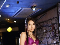 Long haired asian idol with perky plump brests in...