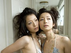 Two mouth watering asian beauties look delicious i...