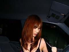 Sexy asian cop looks very naughty in her shorts an...