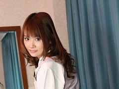 Naughty little asian secretary takes off all her c...