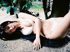 Aki Hoshino petite Japanese girl with nice big bre...