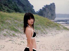 Adorable gravure school girl with pink deliciously...