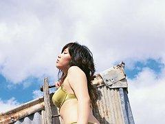 Gorgeous asian beauty seduces as she hides her plu...