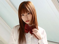 Cute asian school girl shows her naughty side in l...