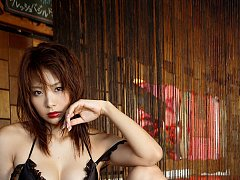 Yuika Hotta lingerie babe in her silk bra and pant...