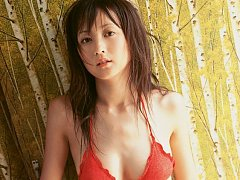 Cute gravure idol in lingerie allures with her big...