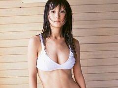 Petite asian babe running around in skimpy white l...