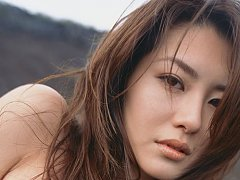 Gorgeous gravure idol seductress teases with her p...