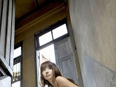 Gravure idol with a delicious body in red lingerie...
