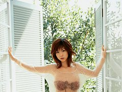Juicey short haired asian babe with big heavy tits...