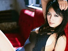 Beautiful long haired gravure idol is exquisite in...