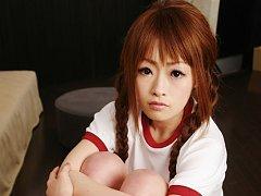Sujikko-Club: present Asuka Ayanami, Aris in shave...