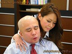 OL China Mimura takes on three hard dicks at the o...