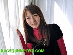 Ayaka strips and shows her big Japanese tits and t...