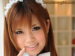 Beautiful Maid with Big Japanese tits likes to fuc...
