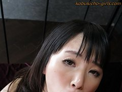 Japanese teen Tsuna teabags gonads and gives her t...