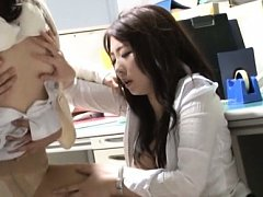 Japanese AV Model and other hot babe are pumped bi...