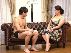 Neko Ayami Asian with huge nude melons sucks dude...