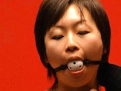 Japanese AV Model lesbian bondage video with a gim...