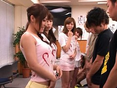 Japanese AV Model in class in their hot outfits be...