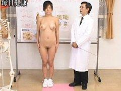 Japanese AV Model exposes her beautiful breasts as...