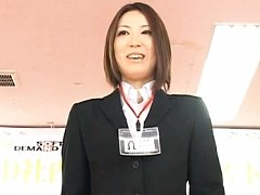 Japanese AV Model in her business outfit and ready...