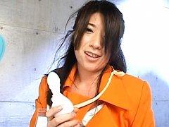 Japanese AV model demonstrates a new pussy toy get...