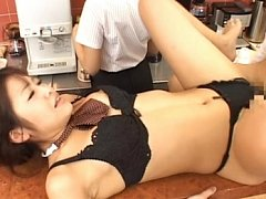 Japanese AV Model having sex at work on the coffee...
