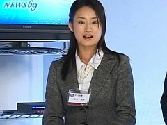Japanese AV Model news anchor who loves showing he...