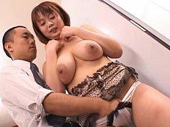 Japanese AV Model gets naked and her tits are teas...