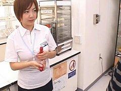 Japanese AV Model's sexy nipples are teased in a s...