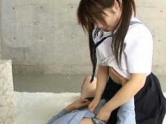Japanese AV Model sucks cock with her soft mouth a...