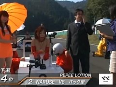 Maria Ozawa at race day in sexy red riding hard on...