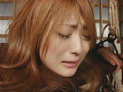 Japanese AV Model kisses her master while another...