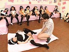 Japanese AV Model messy schoolgirl gets fucked har...
