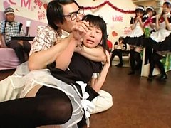 Japanese AV Model is forced to have sex with a str...