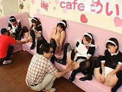 Japanese AV Model cute girls ready to suck cock in...