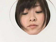 Japanese AV Model is fingered as she sits in the w...