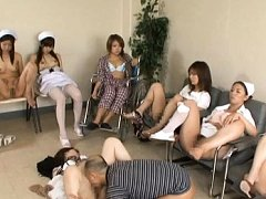 Japanese AV Model doctor in pantyhose gets moleste...