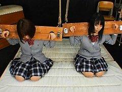 Ryo Tsujimoto cute schoolgirl in bondage tools bef...