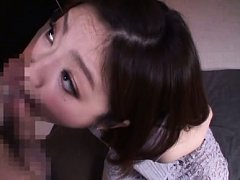 Ai Haneda Asian with tied hands licks balls and su...