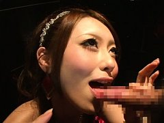 Japanese AV Model is at big party and sucks cock a...