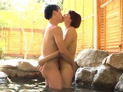Hisae Yabe Asian sucks and rubs dick so well in th...