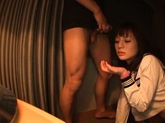 hitomi Asian doll in uniform blouse is fucked in m...