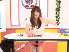 Miku Ohashi Asian presents the news while her cunt...
