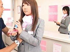 Japanese AV Models fool customer into talking to t...