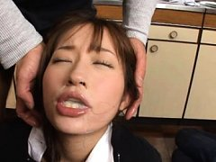 Mika Osawa Asian is fondled on vagina and shows mo...