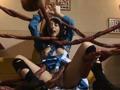 Yuka Osawa Asian has huge tentacles covering all o...