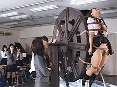 Japanese AV Model is tied and endures pain on whee...